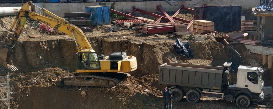 ТОВ «Автогран» - Земляные работы на строительной площадке  ЖК Taryan Towers