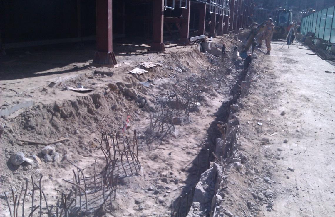 ТОВ «Автогран» - Демонтаж подпорной стены НСК «Олимпийский»